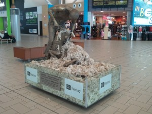 Brisbane International Airport - Wool Cutting Sculpture