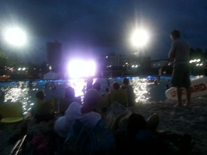 Sunset Cinema @ Artificial beach southbank