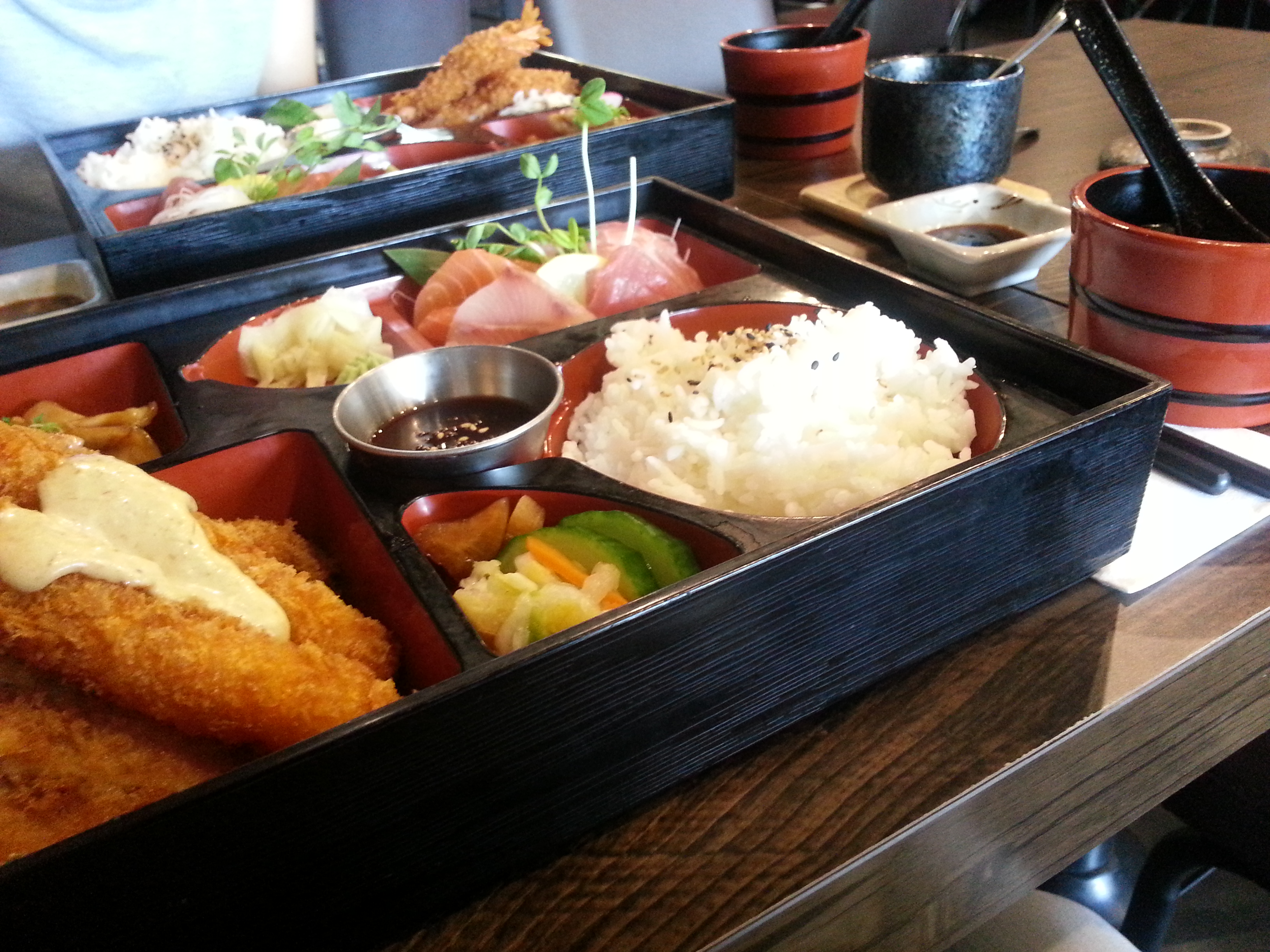 a tasty bento ren japanese restaurant live in bne. Black Bedroom Furniture Sets. Home Design Ideas