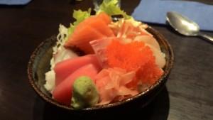 Sashimi Rice @Hana Zushi