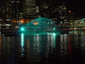 Laser @ the Middle of Brisbane River