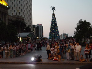 Christmas Parade 201 - A lot of people watch it!