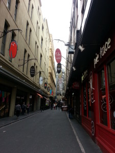 Melbourne – Iconic Laneways- Restaurants, café, boutique clothing and speciality food