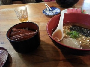Eel with Rice and Ramen @Yamasakura