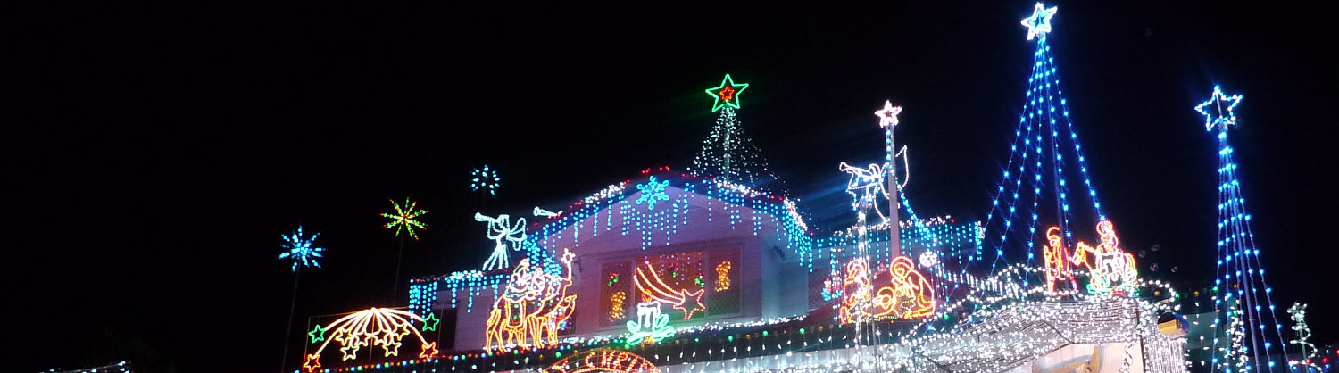 Besides of light decorations, they placed the Christmas Figures at their  Garden, such as three wisdom kings and Mary. - 4KQ Christmas Lights Competition €� South Residential Winner Live