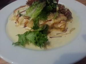 creamy chicken omelet
