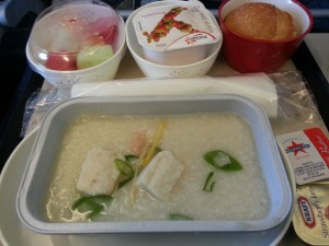 Congee Breakfast @Cathay Pacific