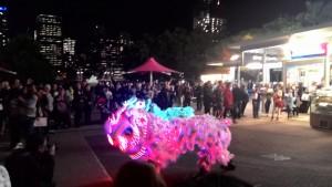 illuminated lions