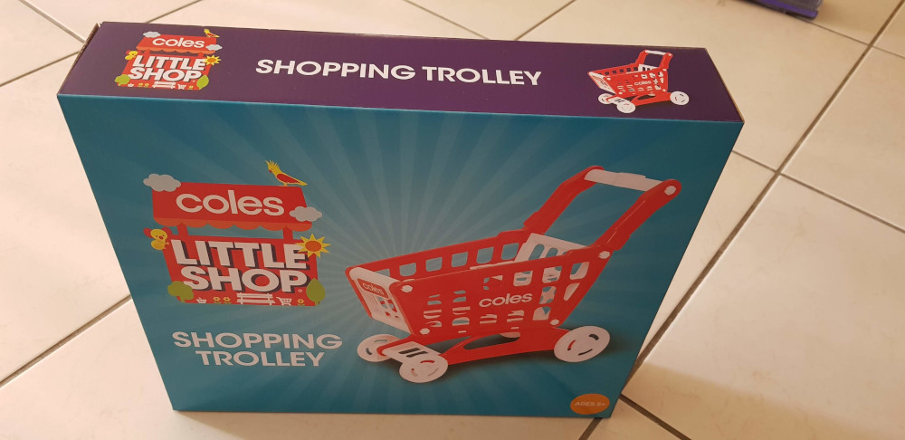 coles shopping trolley - little shop